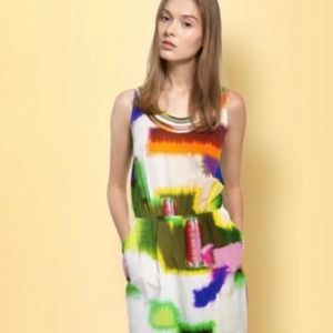 Anthropologie CLUNY Tie-Dye Silk Dress Size 8